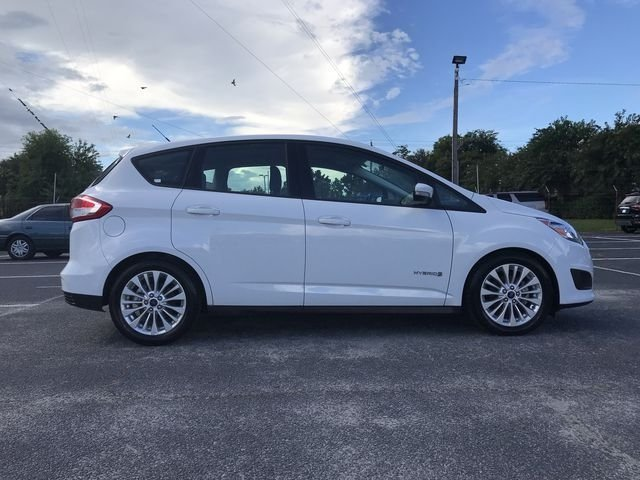 2018 Oxford White Ford C-Max Hybrid SE 2.0L I4 Atkinson-Cycle Hybrid Engine Automatic (CVT) FWD Hatchback 4 Door