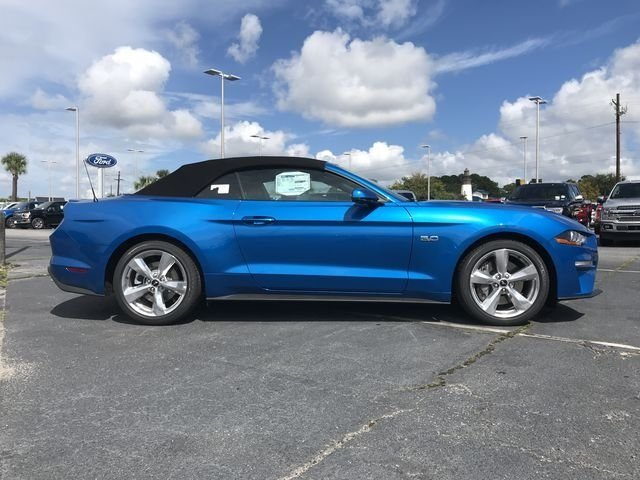 2019 Blue Metallic Ford Mustang GT Premium 2 Door Convertible 5.0L V8 Ti-VCT Engine RWD