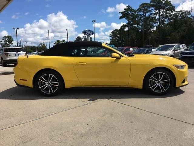 2017 Triple Yellow Tri-Coat Ford Mustang EcoBoost Premium Automatic EcoBoost 2.3L I4 GTDi DOHC Turbocharged VCT Engine Convertible