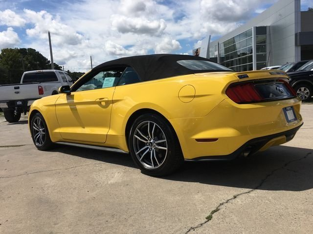 2017 Triple Yellow Tri-Coat Ford Mustang EcoBoost Premium Convertible RWD Automatic
