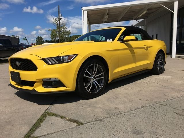 2017 Triple Yellow Tri-Coat Ford Mustang EcoBoost Premium Automatic 2 Door EcoBoost 2.3L I4 GTDi DOHC Turbocharged VCT Engine Convertible RWD