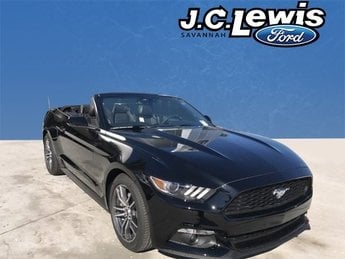 2017 Shadow Black Ford Mustang EcoBoost Premium Automatic 2 Door EcoBoost 2.3L I4 GTDi DOHC Turbocharged VCT Engine