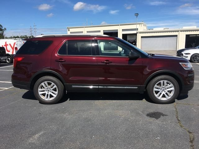 2018 Burgundy Velvet Metallic Tinted Clearcoat Ford Explorer XLT Automatic FWD SUV 4 Door