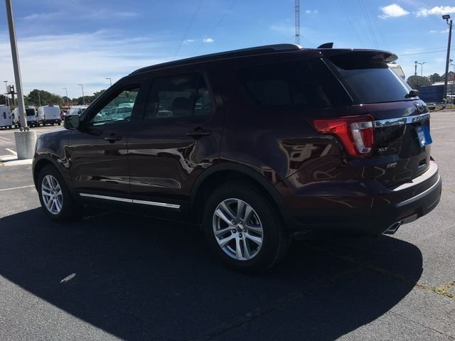 2018 Burgundy Velvet Metallic Tinted Clearcoat Ford Explorer XLT Automatic FWD 3.5L V6 Ti-VCT Engine SUV
