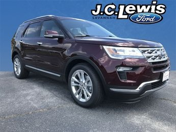 2018 Burgundy Velvet Metallic Tinted Clearcoat Ford Explorer Limited 4 Door SUV 2.3L I4 Engine FWD Automatic