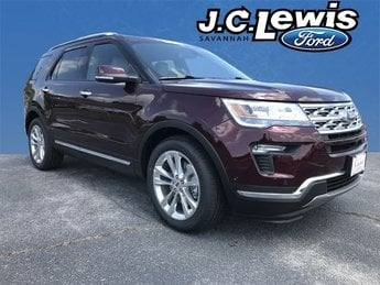 2018 Burgundy Velvet Metallic Tinted Clearcoat Ford Explorer Limited Automatic FWD 2.3L I4 Engine