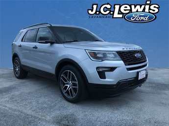 2018 Ingot Silver Metallic Ford Explorer Sport 4X4 Automatic SUV 4 Door 3.5L Engine