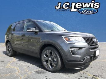 2018 Magnetic Metallic Ford Explorer Sport 4 Door 4X4 SUV Automatic