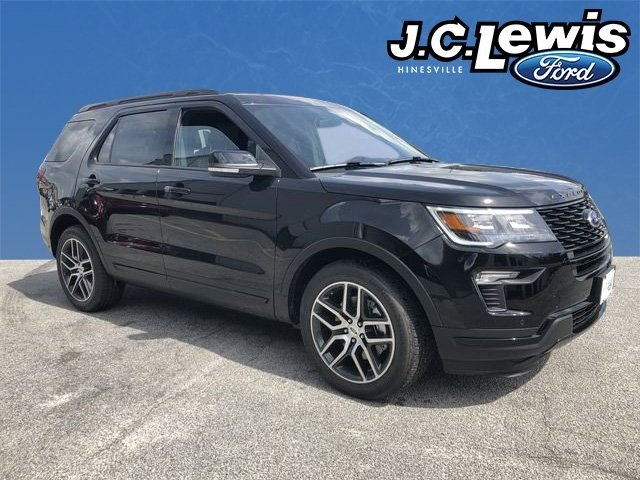 2018 Shadow Black Ford Explorer Sport 4X4 3.5L Engine 4 Door SUV Automatic