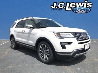 2018 White Metallic Ford Explorer Platinum 4X4 Automatic 4 Door