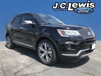 2018 Shadow Black Ford Explorer Platinum 4X4 SUV 3.5L Engine