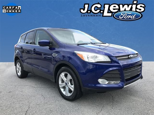 2015 Deep Impact Blue Ford Escape SE EcoBoost 1.6L I4 GTDi DOHC Turbocharged VCT Engine 4 Door SUV FWD Automatic