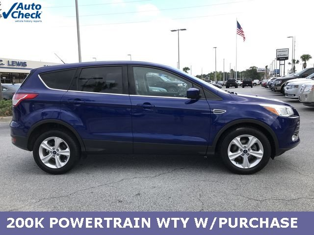 2015 Deep Impact Blue Ford Escape SE EcoBoost 1.6L I4 GTDi DOHC Turbocharged VCT Engine SUV 4 Door Automatic FWD