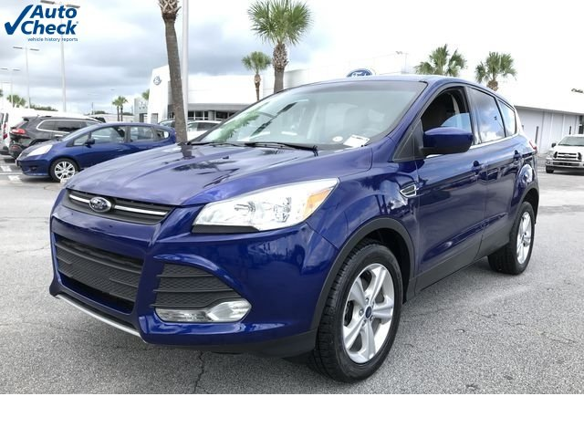 2015 Deep Impact Blue Ford Escape SE 4 Door FWD EcoBoost 1.6L I4 GTDi DOHC Turbocharged VCT Engine