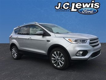 2018 Ingot Silver Metallic Ford Escape Titanium EcoBoost 2.0L I4 GTDi DOHC Turbocharged VCT Engine SUV Automatic