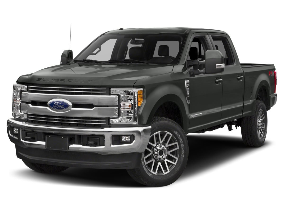 2018 White Ford Super Duty F-250 SRW Lariat Power Stroke 6.7L V8 DI 32V OHV Turbodiesel Engine 4X4 Automatic