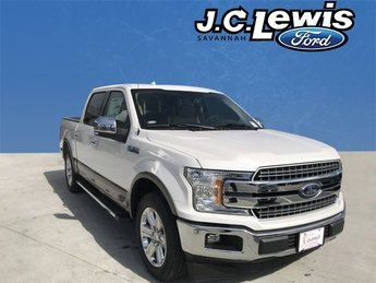 2018 White Ford F-150 Lariat 5.0L V8 Ti-VCT Engine Truck 4 Door RWD Automatic