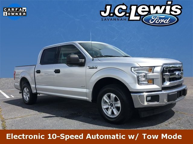 2017 Ingot Silver Metallic Ford F-150 XLT RWD EcoBoost 3.5L V6 GTDi DOHC 24V Twin Turbocharged Engine Truck