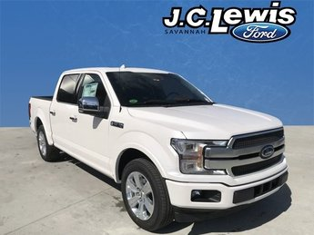 2018 White Platinum Metallic Tri-Coat Ford F-150 Platinum 4 Door RWD EcoBoost 3.5L V6 GTDi DOHC 24V Twin Turbocharged Engine
