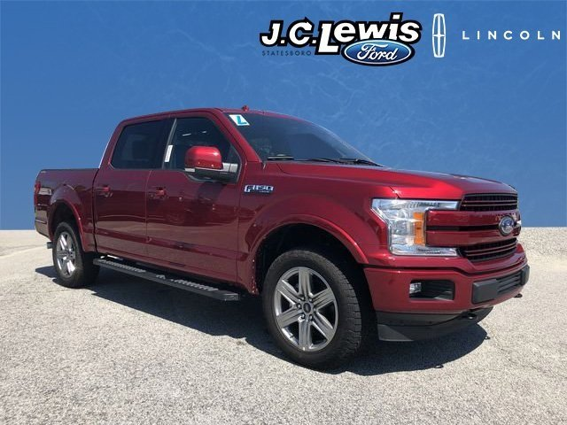 2018 Ruby Red Metallic Tinted Clearcoat Ford F-150 Lariat 4 Door 5.0L V8 Ti-VCT Engine 4X4 Truck Automatic