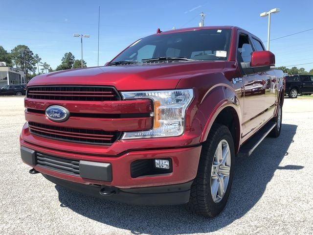 2018 Ruby Red Metallic Tinted Clearcoat Ford F-150 Lariat 4X4 Automatic 5.0L V8 Ti-VCT Engine 4 Door Truck