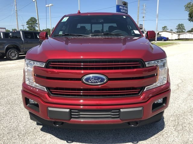 2018 Ruby Red Metallic Tinted Clearcoat Ford F-150 Lariat 4X4 Truck Automatic 4 Door 5.0L V8 Ti-VCT Engine