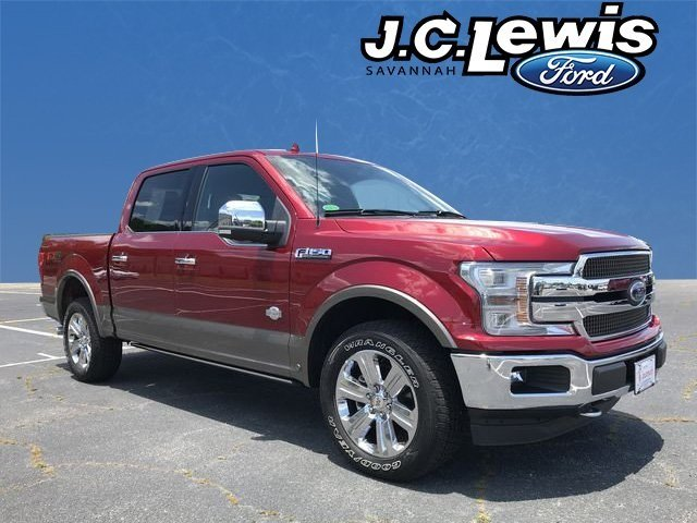 2018 Ruby Red Metallic Tinted Clearcoat Ford F-150 King Ranch 4X4 EcoBoost 3.5L V6 GTDi DOHC 24V Twin Turbocharged Engine Truck Automatic
