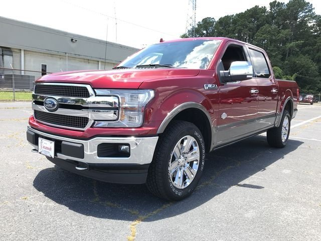 2018 Ruby Red Metallic Tinted Clearcoat Ford F-150 King Ranch Truck EcoBoost 3.5L V6 GTDi DOHC 24V Twin Turbocharged Engine 4 Door 4X4 Automatic