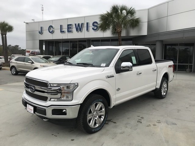 2018 White Platinum Metallic Tri-Coat Ford F-150 King Ranch 4X4 4 Door Automatic