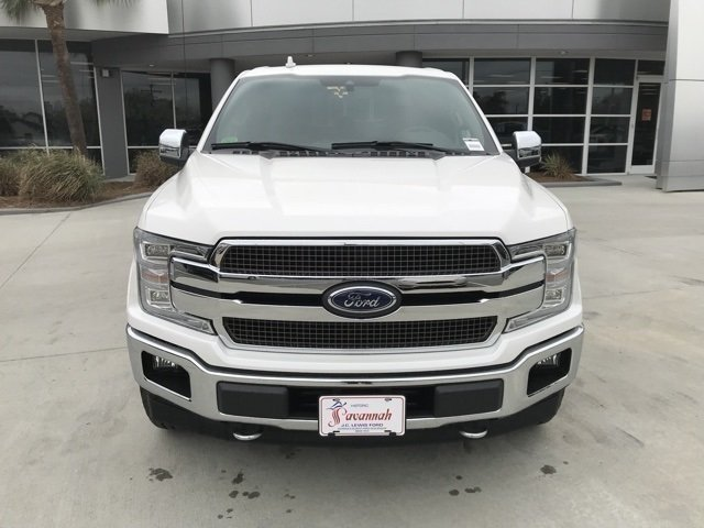 2018 White Platinum Metallic Tri-Coat Ford F-150 King Ranch 4 Door EcoBoost 3.5L V6 GTDi DOHC 24V Twin Turbocharged Engine 4X4