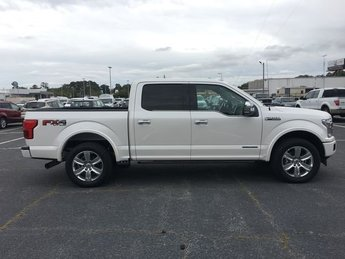2018 White Platinum Metallic Tri-Coat Ford F-150 Platinum 3.0L Diesel Turbocharged Engine 4 Door Truck 4X4