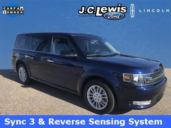 2016 Kona Blue Metallic Ford Flex SEL 4 Door SUV Automatic 3.5L V6 Ti-VCT Engine
