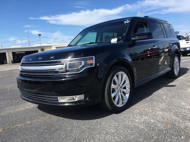 2018 Shadow Black Ford Flex Limited SUV FWD Automatic 3.5L V6 Ti-VCT Engine 4 Door