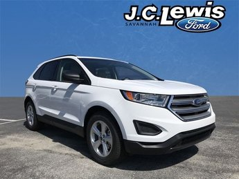 2018 Oxford White Ford Edge SE SUV EcoBoost 2.0L I4 GTDi DOHC Turbocharged VCT Engine Automatic