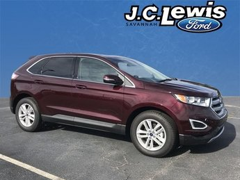 2018 White Platinum Clearcoat Metallic Ford Edge SEL 4 Door FWD EcoBoost 2.0L I4 GTDi DOHC Turbocharged VCT Engine