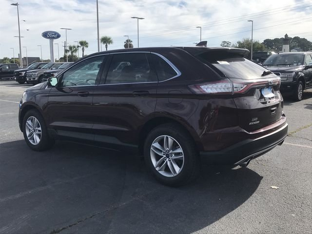 2018 White Platinum Clearcoat Metallic Ford Edge SEL FWD Automatic SUV EcoBoost 2.0L I4 GTDi DOHC Turbocharged VCT Engine