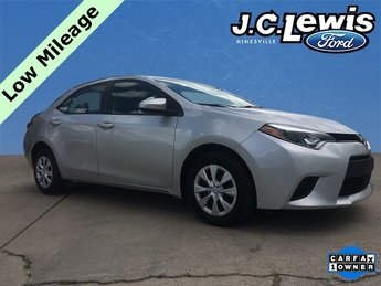 2016 Toyota Corolla L Automatic Sedan I4 Engine 4 Door FWD