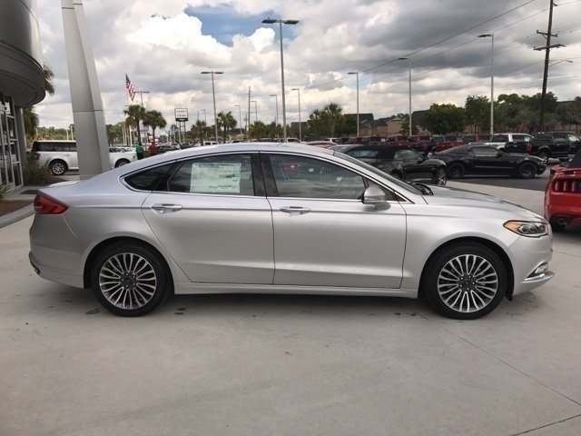 2017 Ingot Silver Ford Fusion SE Automatic FWD EcoBoost 2.0L I4 GTDi DOHC Turbocharged VCT Engine