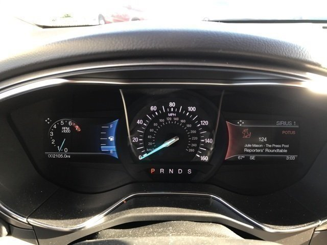 2017 Lightning Blue Ford Fusion SE Automatic Sedan 4 Door EcoBoost 2.0L I4 GTDi DOHC Turbocharged VCT Engine FWD