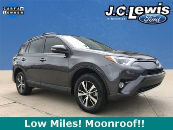 2017 Magnetic Gray Metallic Toyota RAV4 XLE 4 Door FWD SUV 2.5L 4-Cylinder DOHC Dual VVT-i Engine