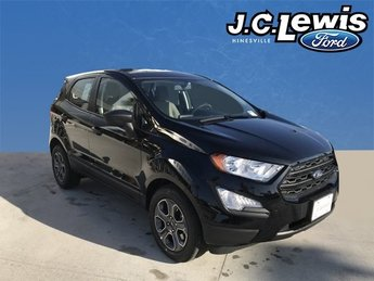 2018 Shadow Black Ford EcoSport S EcoBoost 1.0L I3 GTDi DOHC Turbocharged VCT Engine Automatic FWD 4 Door SUV