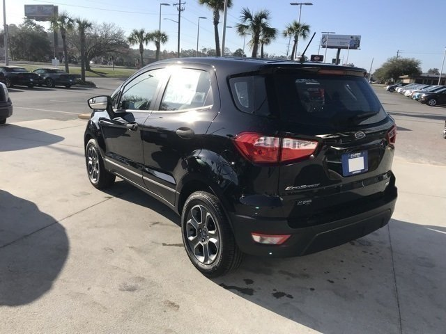 2018 Shadow Black Ford EcoSport S Automatic FWD 4 Door EcoBoost 1.0L I3 GTDi DOHC Turbocharged VCT Engine SUV