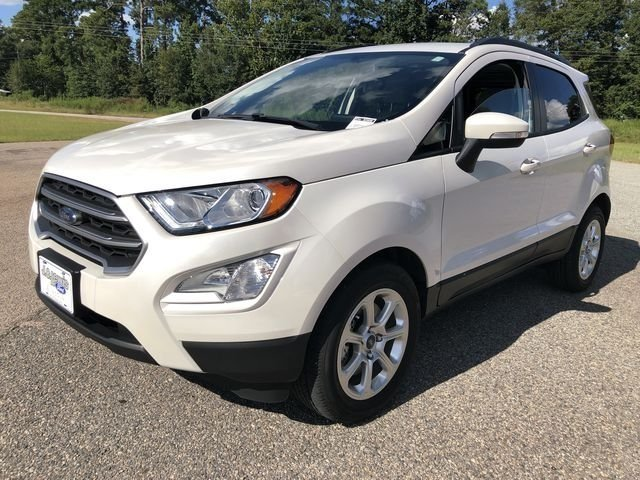 2018 White Platinum Clearcoat Metallic Ford EcoSport SE SUV FWD EcoBoost 1.0L I3 GTDi DOHC Turbocharged VCT Engine Automatic 4 Door