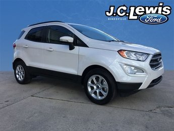 2018 White Platinum Clearcoat Metallic Ford EcoSport SE 4 Door Automatic FWD EcoBoost 1.0L I3 GTDi DOHC Turbocharged VCT Engine
