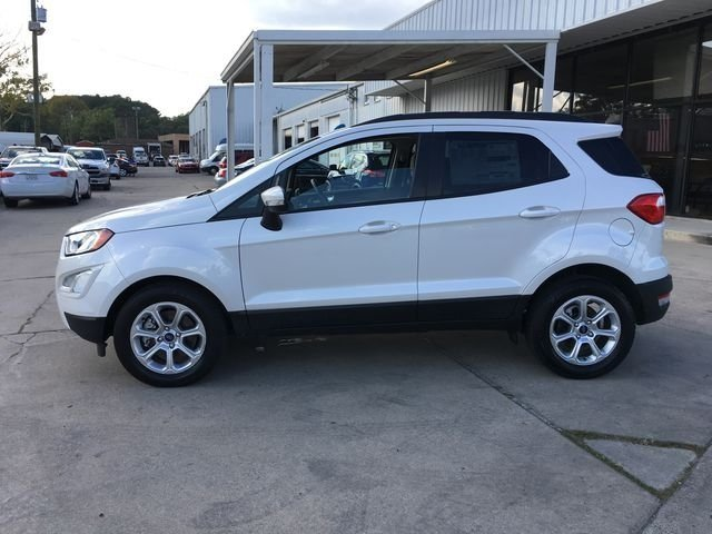 2018 White Platinum Clearcoat Metallic Ford EcoSport SE FWD Automatic EcoBoost 1.0L I3 GTDi DOHC Turbocharged VCT Engine 4 Door