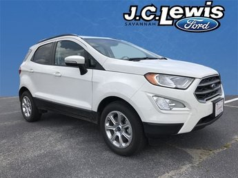 2018 Diamond White Ford EcoSport SE 4 Door SUV EcoBoost 1.0L I3 GTDi DOHC Turbocharged VCT Engine FWD Automatic