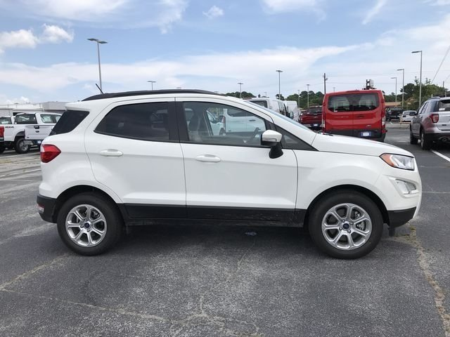 2018 Diamond White Ford EcoSport SE FWD SUV EcoBoost 1.0L I3 GTDi DOHC Turbocharged VCT Engine Automatic