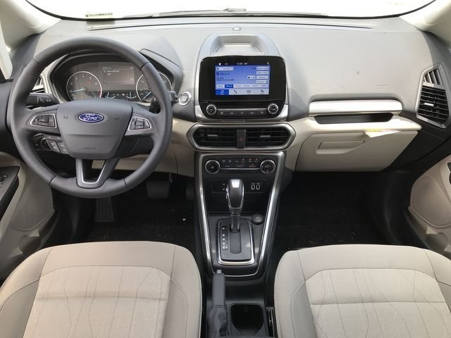 2018 Diamond White Ford EcoSport SE FWD SUV Automatic EcoBoost 1.0L I3 GTDi DOHC Turbocharged VCT Engine 4 Door