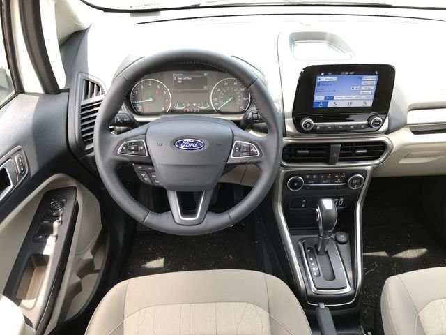 2018 Diamond White Ford EcoSport SE EcoBoost 1.0L I3 GTDi DOHC Turbocharged VCT Engine 4 Door Automatic