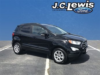2018 Shadow Black Ford EcoSport SE Automatic FWD 4 Door EcoBoost 1.0L I3 GTDi DOHC Turbocharged VCT Engine SUV
